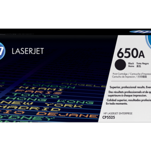 HP 650A Black Original LaserJet Toner Cartridge