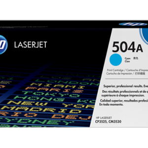 HP 504A Cyan Original LaserJet Toner Cartridge