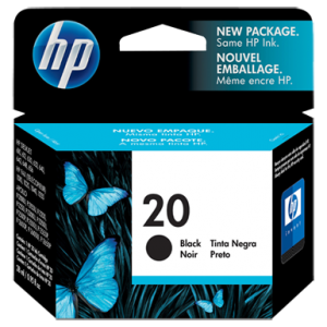 HP 20 Black Ink Cartridge